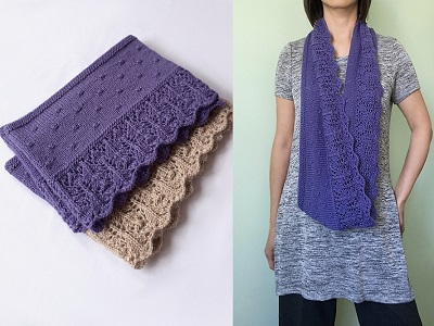 lace border loop scarf