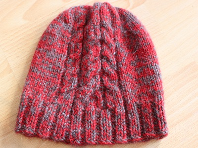 Three cabled hat